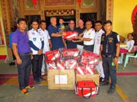 phuket goms giving medical bags